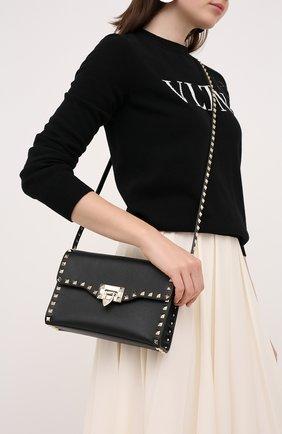 Женская сумка rockstud VALENTINO черного цвета, арт. UW2B0181/B0L   Фото 2