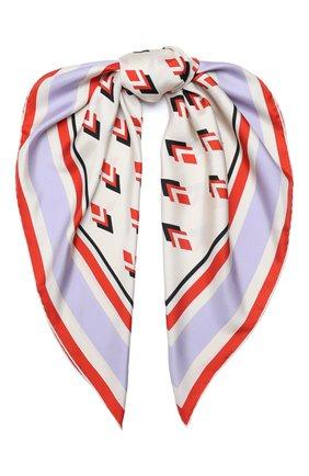 Женский шелковый платок valentino garavani VALENTINO белого цвета, арт. UW2EI114/VMM | Фото 1