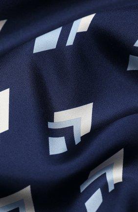 Женский шелковый платок valentino garavani VALENTINO синего цвета, арт. UW2EI114/VMM | Фото 2