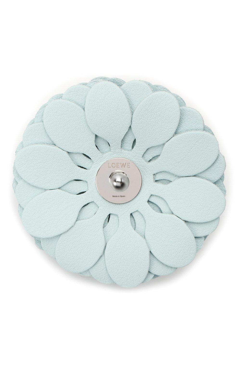 Женские украшение для сумки stud flower LOEWE голубого цвета, арт. N691232X02   Фото 3