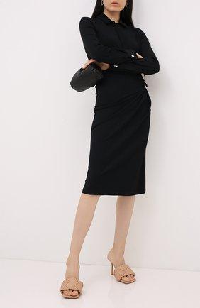 Женские кожаные мюли BOTTEGA VENETA бежевого цвета, арт. 608854/VBSS0 | Фото 2