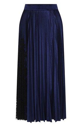 Женская юбка VALENTINO синего цвета, арт. UB3MD02B5ME | Фото 1