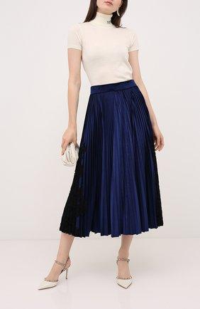 Женская юбка VALENTINO синего цвета, арт. UB3MD02B5ME | Фото 2