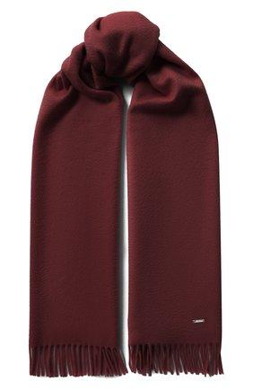 Мужские кашемировый шарф grande unita LORO PIANA бордового цвета, арт. FAA1056   Фото 1