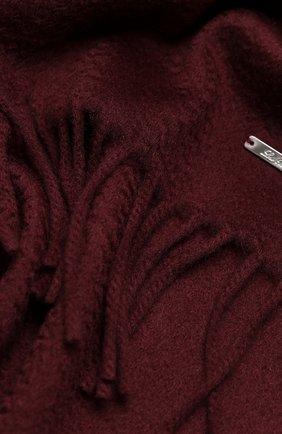 Мужские кашемировый шарф grande unita LORO PIANA бордового цвета, арт. FAA1056   Фото 2