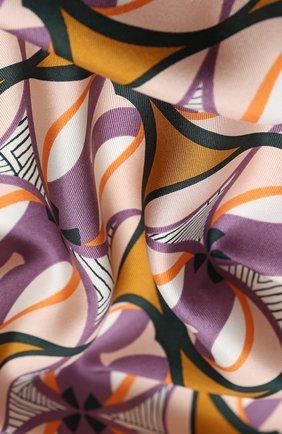 Женский шелковый платок chrysler twill LORO PIANA коричневого цвета, арт. FAL2771 | Фото 2