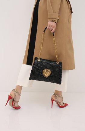 Женская сумка devotion DOLCE & GABBANA черного цвета, арт. BB6728/AX813 | Фото 2