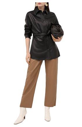 Женская кожаная рубашка DROME черного цвета, арт. DPDA455P/D400P   Фото 2