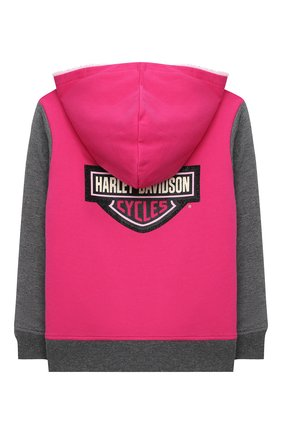 Детский хлопковая толстовка HARLEY-DAVIDSON розового цвета, арт. 6533735 | Фото 2