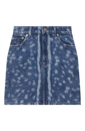 Женская джинсовая юбка BURBERRY синего цвета, арт. 8026889 | Фото 1