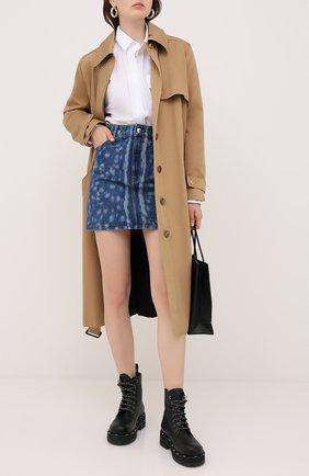 Женская джинсовая юбка BURBERRY синего цвета, арт. 8026889 | Фото 2