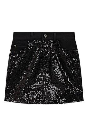 Женская джинсовая юбка EMPORIO ARMANI черного цвета, арт. 6H2N77/2N5HZ | Фото 1