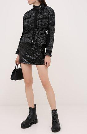 Женская джинсовая юбка EMPORIO ARMANI черного цвета, арт. 6H2N77/2N5HZ | Фото 2