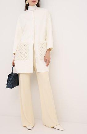 Женское шерстяное пальто VALENTINO белого цвета, арт. UF3FAC60DMF | Фото 2