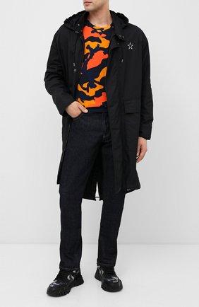 Мужские комбинированные кроссовки valentino garavani rockrunner plus VALENTINO черного цвета, арт. UY2S0C88/YMP | Фото 2