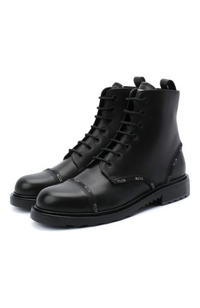 Мужские кожаные ботинки valentino garavani vltn ribbon VALENTINO черного цвета, арт. UY2S0D14/KWS | Фото 1