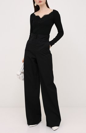 Женская пуловер из вискозы VALENTINO черного цвета, арт. UB3KC16X5RV   Фото 2