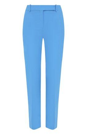 Женские шерстяные брюки VALENTINO голубого цвета, арт. UB3RB3W01CF | Фото 1