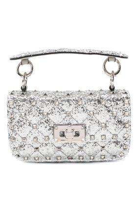 Женская сумка valentino garavani rockstud spike VALENTINO серебряного цвета, арт. UW2B0G37/LVR | Фото 1
