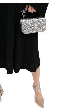 Женская сумка valentino garavani rockstud spike VALENTINO серебряного цвета, арт. UW2B0G37/LVR | Фото 2