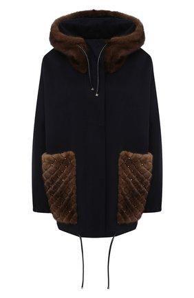 Пальто с отделкой мехом норки | Фото №1