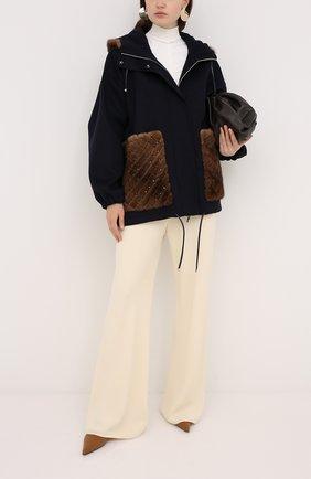 Пальто с отделкой мехом норки | Фото №2