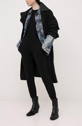 Женские хлопковые джоггеры VETEMENTS черного цвета, арт. WAH21TR645 1601/BLACK | Фото 2