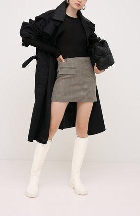 Женская шерстяная юбка VETEMENTS коричневого цвета, арт. WAH21SK031 1206/BR0WN CHECK | Фото 2