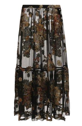 Женская шелковая юбка SAINT LAURENT черного цвета, арт. 618658/Y7A11 | Фото 1