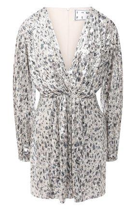 Женское платье с пайетками IN THE MOOD FOR LOVE серебряного цвета, арт. MING DRESS | Фото 1