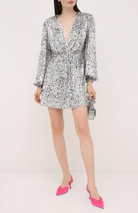 Женское платье с пайетками IN THE MOOD FOR LOVE серебряного цвета, арт. MING DRESS | Фото 2