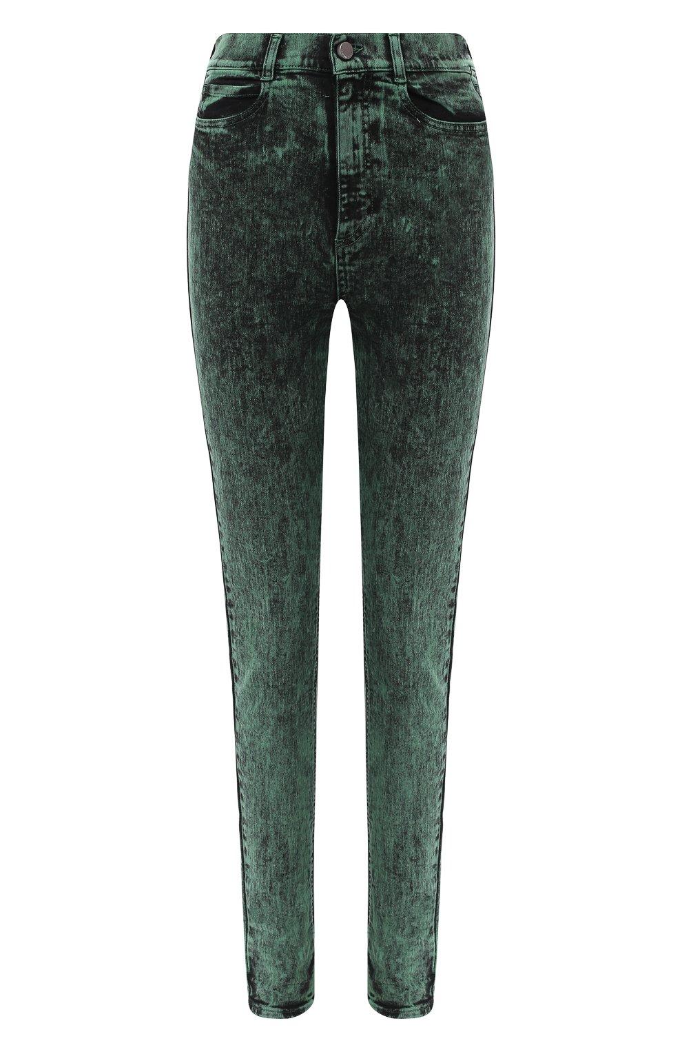Женские джинсы REDVALENTINO зеленого цвета, арт. UR3DE01H/58V   Фото 1