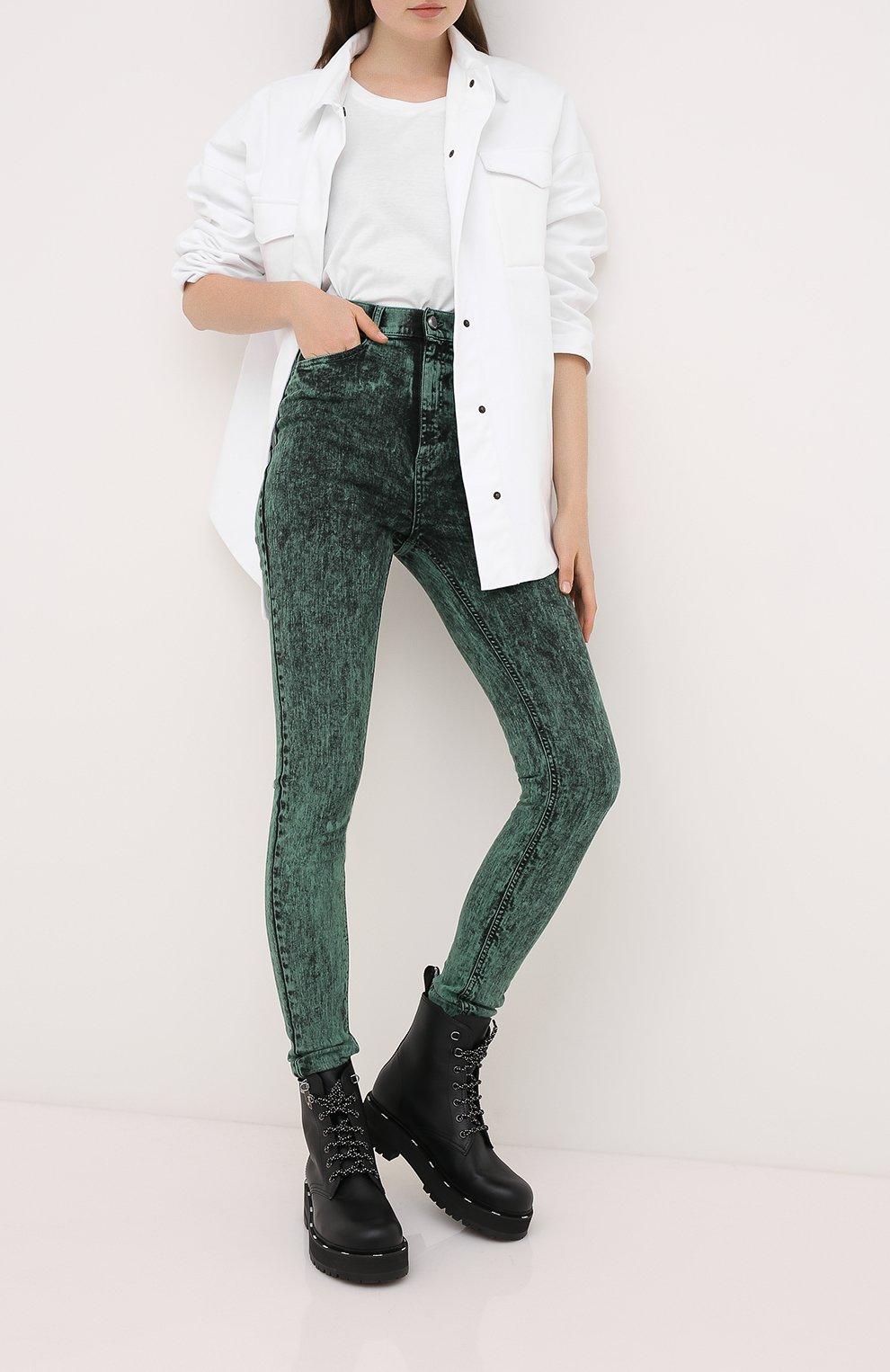 Женские джинсы REDVALENTINO зеленого цвета, арт. UR3DE01H/58V   Фото 2