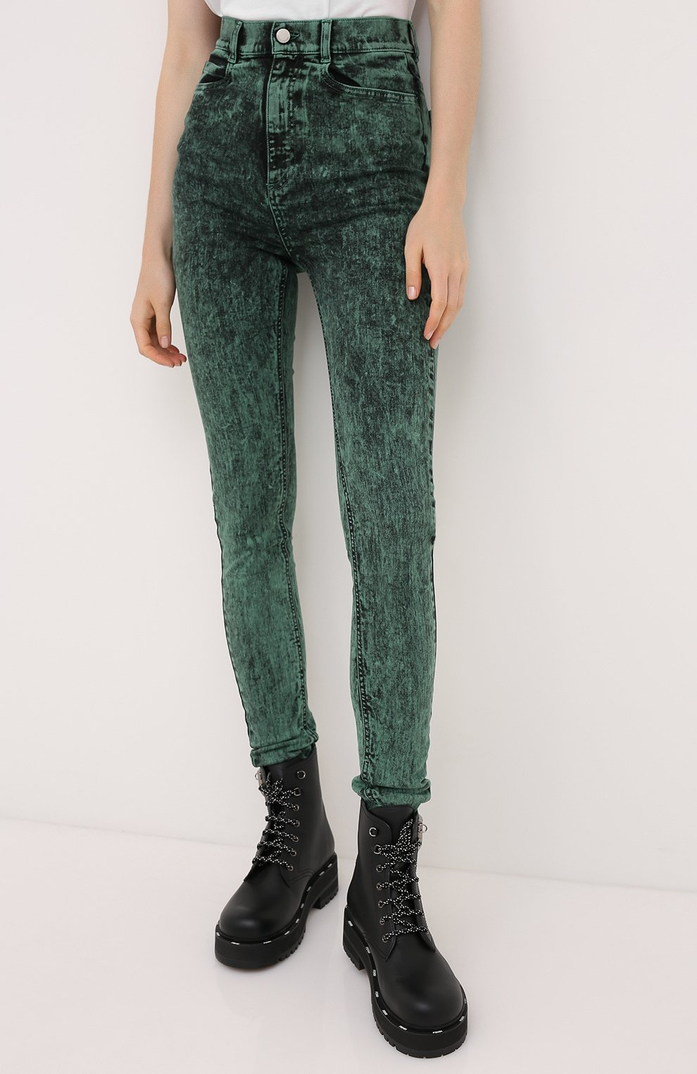 Женские джинсы REDVALENTINO зеленого цвета, арт. UR3DE01H/58V   Фото 3