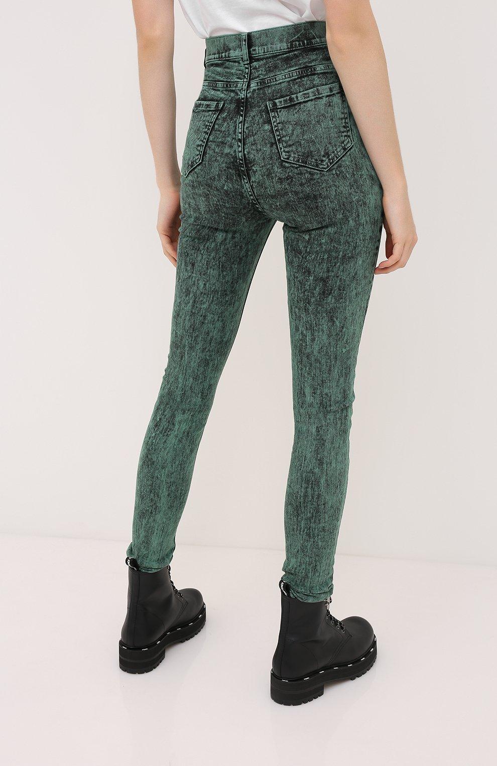 Женские джинсы REDVALENTINO зеленого цвета, арт. UR3DE01H/58V   Фото 4