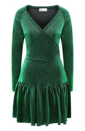 Женское платье REDVALENTINO зеленого цвета, арт. UR3MJ04V/5BU | Фото 1