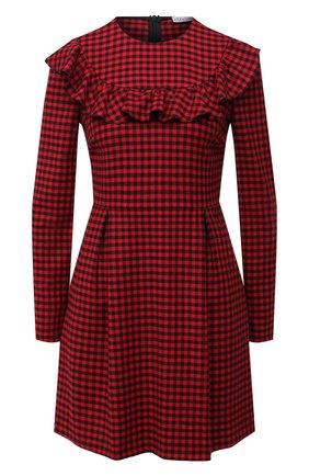 Женское платье из вискозы и шерсти REDVALENTINO красного цвета, арт. UR3VAS55/55W | Фото 1
