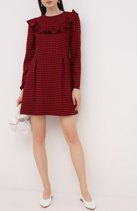 Женское платье из вискозы и шерсти REDVALENTINO красного цвета, арт. UR3VAS55/55W | Фото 2