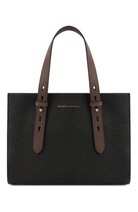 Женская сумка super vee BRUNELLO CUCINELLI черного цвета, арт. MBVND2177P | Фото 1