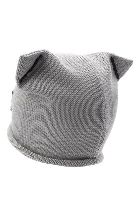Детского шерстяная шапка CATYA серого цвета, арт. 024604F | Фото 2