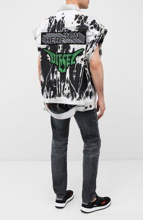Мужской джинсовый жилет DIESEL серого цвета, арт. A00425/009GX | Фото 2