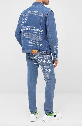 Мужские джинсы DIESEL голубого цвета, арт. A00468/009DX | Фото 2