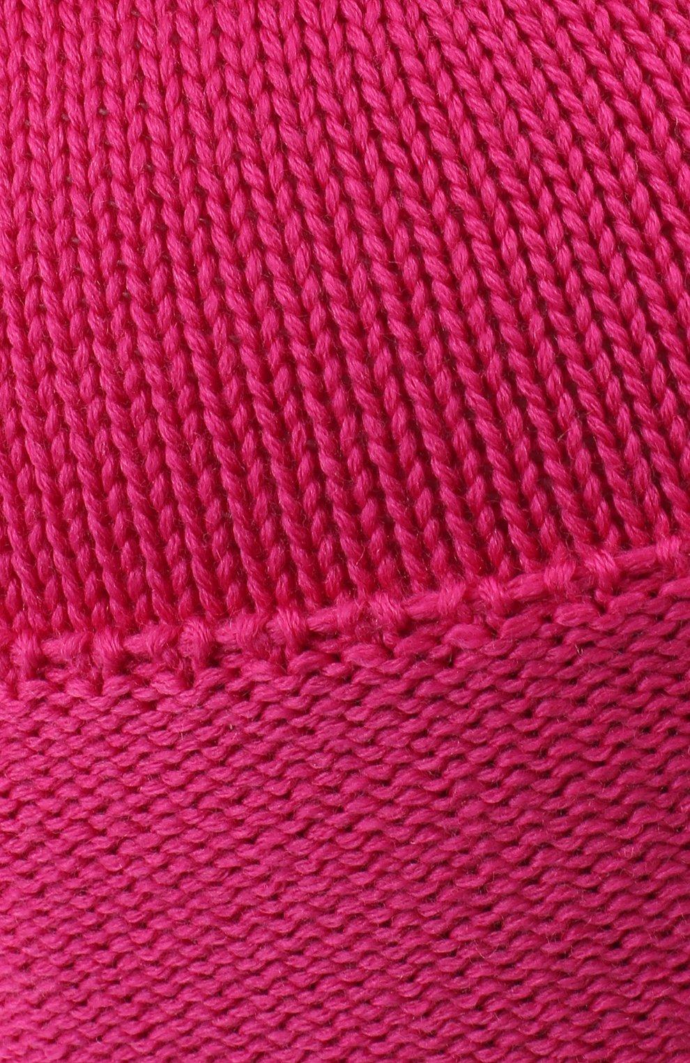 Детского шерстяная шапка с меховым помпоном CATYA фуксия цвета, арт. 024621/A | Фото 3