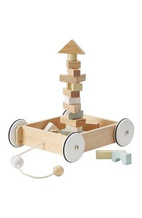 Детского игрушка тележка с кубиками KID`S CONCEPT бежевого цвета, арт. 1000195 | Фото 1