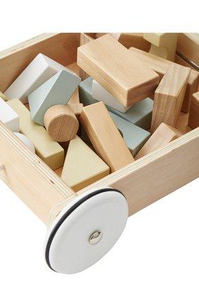 Детского игрушка тележка с кубиками KID`S CONCEPT бежевого цвета, арт. 1000195 | Фото 2