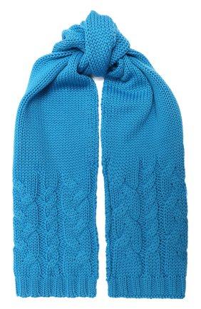 Детский шерстяной шарф CATYA голубого цвета, арт. 024772 | Фото 1