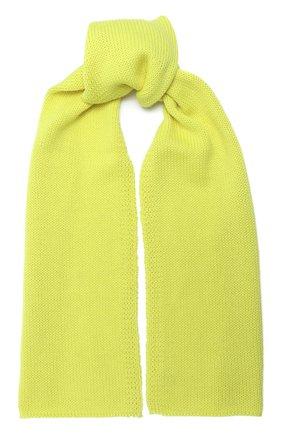 Детский шерстяной шарф CATYA желтого цвета, арт. 024759 | Фото 1