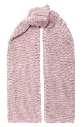 Детский шерстяной шарф CATYA розового цвета, арт. 024759 | Фото 1