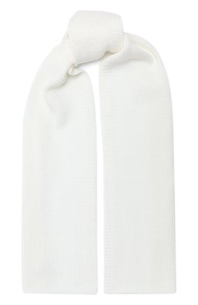 Детский шерстяной шарф CATYA белого цвета, арт. 024759 | Фото 1