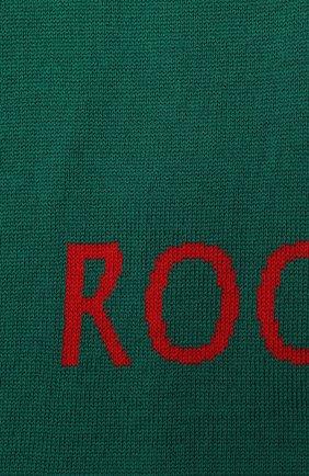 Детский шерстяной шарф CATYA салатового цвета, арт. 024757 | Фото 2